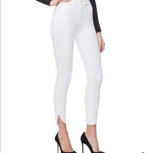 Good American crop White Denim Jeans